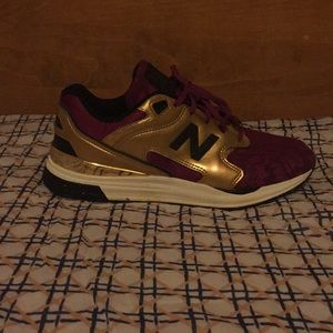 New Balance Tennis Shoes Magenta and Gold
